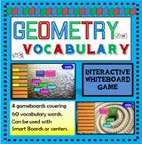 Geometry Vocabulary SMART Board / Interactive Whiteboard Game