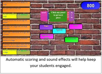 Geometry Vocabulary SMART Board / Interactive Whiteboard Game