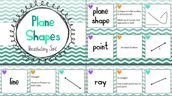 Geometry Vocabulary Sort - Plane Shapes