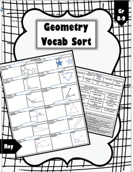 Geometry Vocabulary Sort (Triangles, Angles, Lines, Congruency)