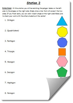 Geometry Vocabulary Station Rotation (All inclusive) Lesson Plan (Grades 3-6)