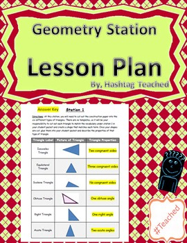 Geometry Vocabulary Station Rotation (All inclusive) Lesso
