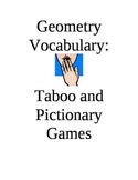 Geometry Vocabulary Taboo and Pictionary Games