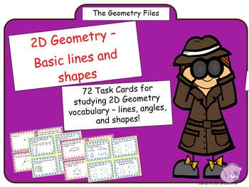 Geometry Vocabulary Task Cards - 2D Shapes and Figures