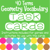 Geometry Vocabulary Task Cards for Games and Cooperative Learning