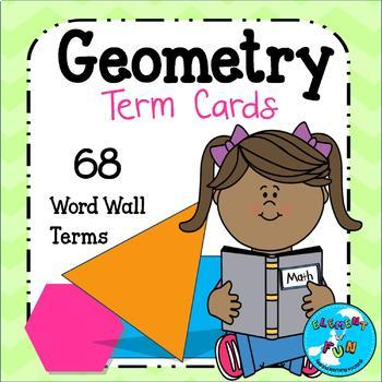 Geometry Vocabulary Term Cards