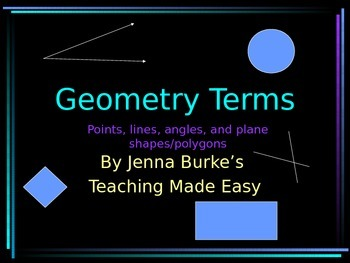 Geometry Vocabulary Terms