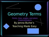 Geometry Vocabulary Terms
