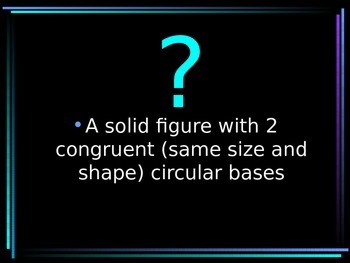 Geometry Vocabulary Terms 3D shapes