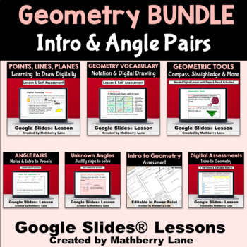 Geometry Vocabulary Tools Intro to Proofs Digital Lessons with Paper-Pencil Labs