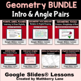 Geometry Vocabulary Tools Intro to Proofs Digital Lessons Bundle