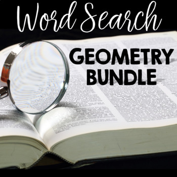 Geometry Vocabulary Word Search BUNDLE