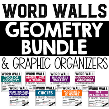 Geometry Word Wall BUNDLE