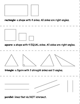 Geometry Vocabulary with Visuals