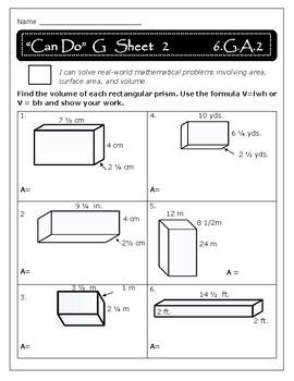 Geometry: Volume - 6.G.A.2