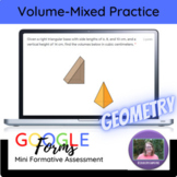 Geometry:   Volume Mixed Practice Mini Formative Assessment