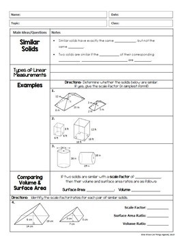 Volume and Surface Area (Geometry - Unit 11) by All Things ...