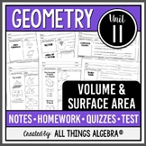 Volume and Surface Area (Geometry Curriculum - Unit 11) DISTANCE LEARNING