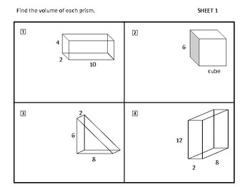 Geometry Volume and Surface Area of 3D Solids