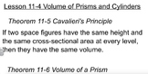Geometry- Volume of Prisms and Cylinders