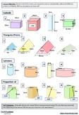 Volume of Prisms (differentiated worksheet)