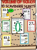 Geometry - Volume of Solids - Scavenger Hunts - 10-Pack