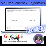 Geometry:   Volume of Spheres & Hemispheres Mini Formative