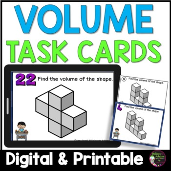 Geometry- Volume with Cubes Task Cards