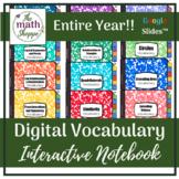 Geometry WHOLE YEAR Digital Vocabulary Interactive Noteboo