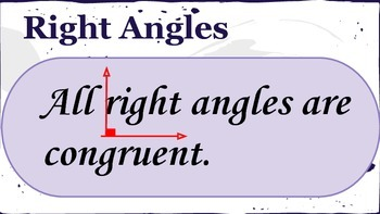 Geometry Wall and Poster : Angles Theorems and Postulates