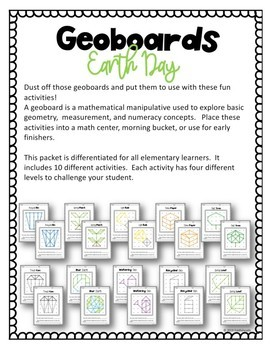 Geometry With Geoboards Earth Day