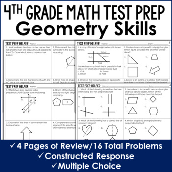 Geometry Review - 4th Grade Test Prep (No Prep) by Jennifer ...