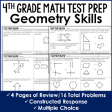 Geometry Review  - 4th Grade Test Prep (No Prep)