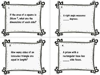 Geometry & Measurement Word Problems Grades 4-6