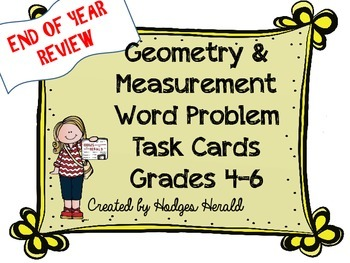 Geometry & Measurement Word Problems Grades 4-6