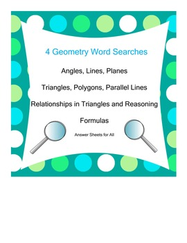 Geometry Word Searches