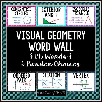 Geometry Word Wall (145 Words!)