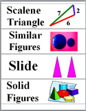 Geometry Word Wall - Geometry Vocabulary