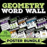 Geometry Word Wall Poster Bundle