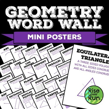 Geometry Word Wall Vocabulary Posters