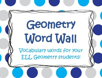 Geometry Word Wall for ELLs