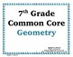 Geometry Word Wall with Example - 7th Grade