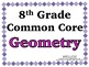 Geometry Word Wall with Example - 8th Grade