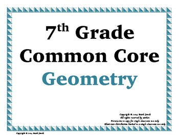 Geometry Word Wall with Example & Spanish Translation - 7th Grade
