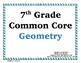 Geometry Word Wall with Example & Spanish Translation