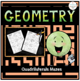 Geometry Working with Quadrilaterals Mazes
