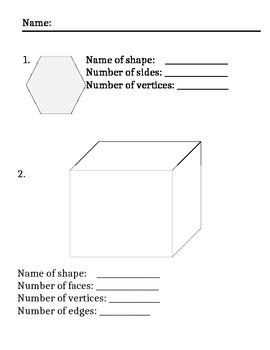 Geometry Worksheet