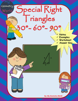 Geometry Worksheet: 30-60-90 Triangles