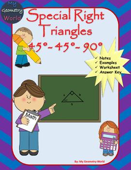 Geometry Worksheet: 45-45-90 Triangles