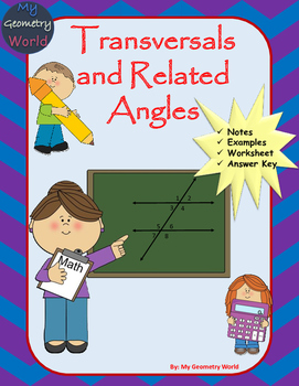 Geometry Worksheet: Transversals and Related Angles